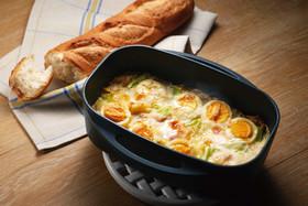 キャベツと卵のグラタン
