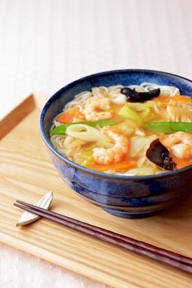 五目あんかけ温麺(うーめん)