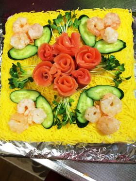 あるもので簡単寿司ケーキ