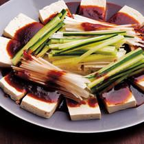 豆腐のピリ辛ソース