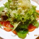 トマトとベビーリーフのセロリカルパッチョ