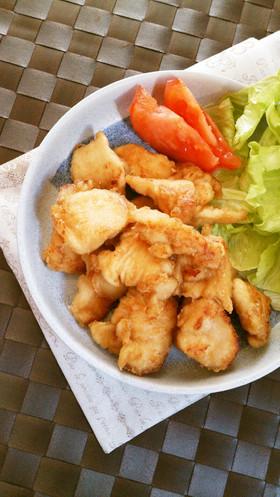 簡単☆鶏胸肉の揚げないオイスター唐揚げ。