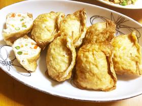 鶏挽肉と野菜の揚げ巾着☆甘辛煮
