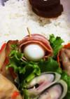 簡単!お弁当に♡  うずら卵ベーコン巻き