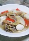 白菜と豚肉の中華炒め
