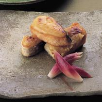 サーモンの柚子味噌田楽