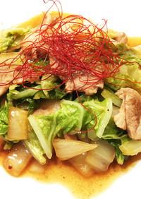 簡単☆やみつき♪豚と白菜のオイ酢ター炒め