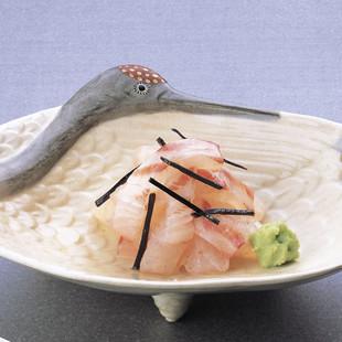 鯛細造り塩昆布あえ