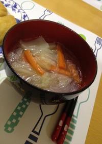 シャンタンで春雨スープ