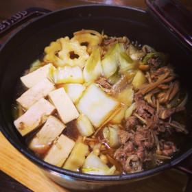 ちょっとだけ♡すき焼き肉豆腐