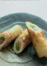 竹輪の天ぷら in紅生姜とピーマン