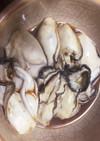 牡蠣の酒蒸し(生食用でぷりぷり焼き牡蠣)