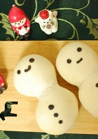しっとり♡雪だるマン!!な白パン