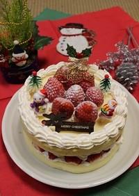 市販のスポンジでズボラなクリスマスケーキ