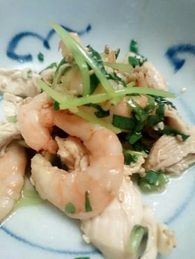 ユッケ風!豆苗と鳥ささみの香味サラダ