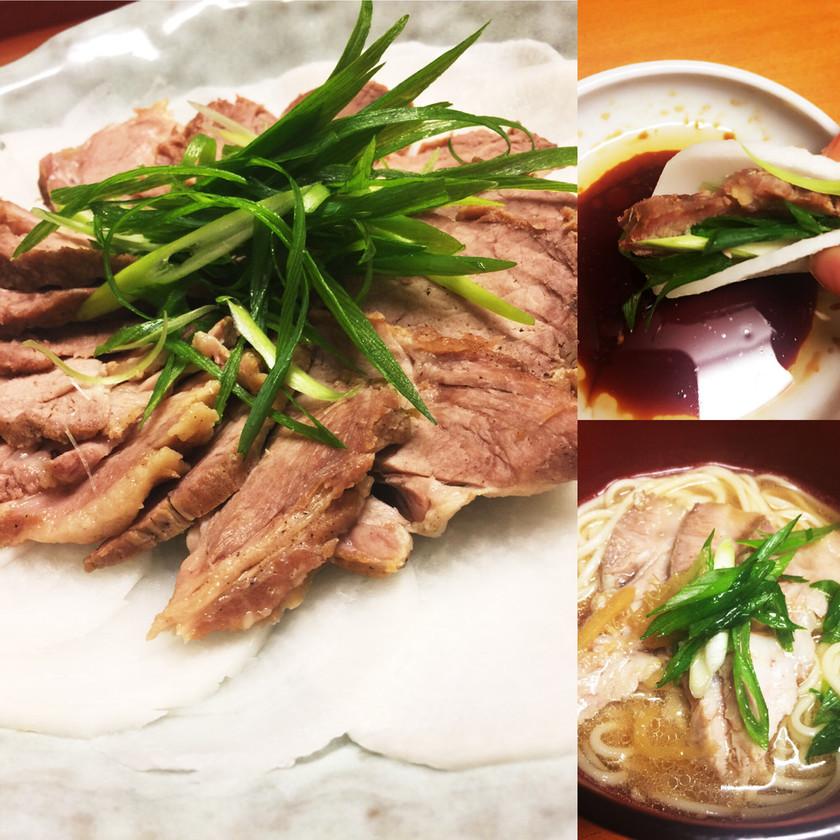 おもてなし★大根にあっさり煮豚とネギ巻き