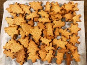 クリスマスのジンジャーブレッドクッキーの写真