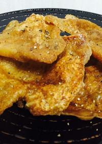 低糖質☆鶏皮せんべい&スープ&鶏油