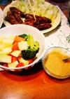 温野菜に。バーニャカウダ風味噌ディップ