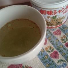創味シャンタンで即席スープ