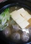 簡単!イワシDEつみれの湯豆腐♪