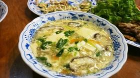 シャンタンDX❁豆腐の卵あんかけスープ