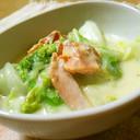 冬に食べたい♡サーモンと白菜のクリーム煮