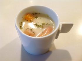 ウィンナーとカボチャのスープ