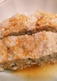 ルクエで簡単☆鶏と豆腐のミートローフ風