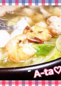 雑誌掲載☆海鮮de塩ちゃんこ鍋♡簡単出汁