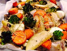 簡単塩豚と根菜のぎゅうぎゅう焼き