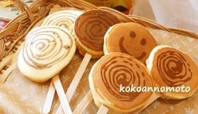パンケーキアート♡ぺろぺろキャンディー風