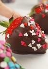 ハート苺チョコレートカバー