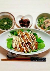カフェ風♡豚こま肉でポークジンジャー丼