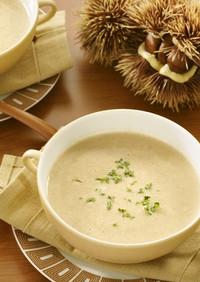甘栗とベーコンのスープ