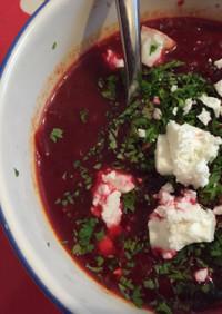 ビーツのベジタリアンボルシチ風スープ
