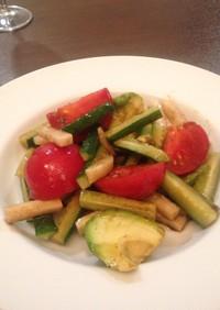 アボカド・トマトの簡単混ぜるだけサラダ