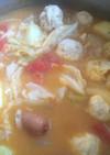 トマト鶏ウインナー鍋
