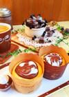 HMカップケーキにチョコアートしよ〜♪