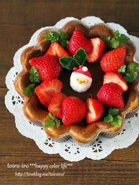 混ぜて焼くだけ♡クリスマスチーズケーキ