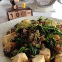 ほうれん草と豆腐の中華風炒め✨節約簡単