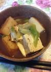 簡単!お造り揚げと焼き豆腐の煮物♪