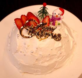 簡単手作り!Xmasスノードームケーキ