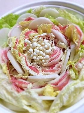 花咲くミルフィーユ鍋*豚バラと白菜と大根