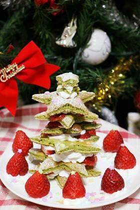 HMで!超簡単クリスマスツリーケーキ♡