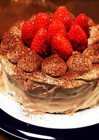ココアのデコレーションケーキ(乳不使用)