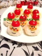クリスマス☆サンタのお寿司♡の写真