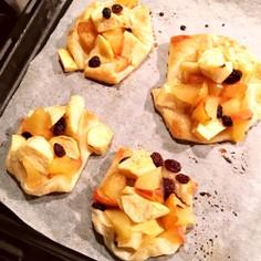簡単時短!林檎とサツマイモのオープンパイ