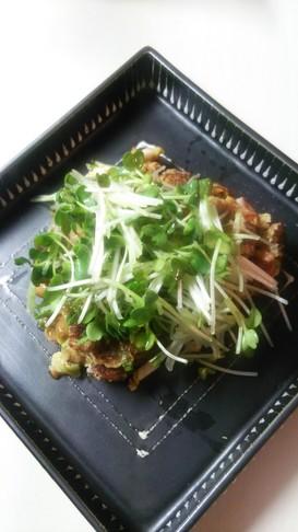 納豆と小松菜ベーコンのふわとろオムレツ♪