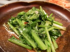 青菜のササッと中華風炒め